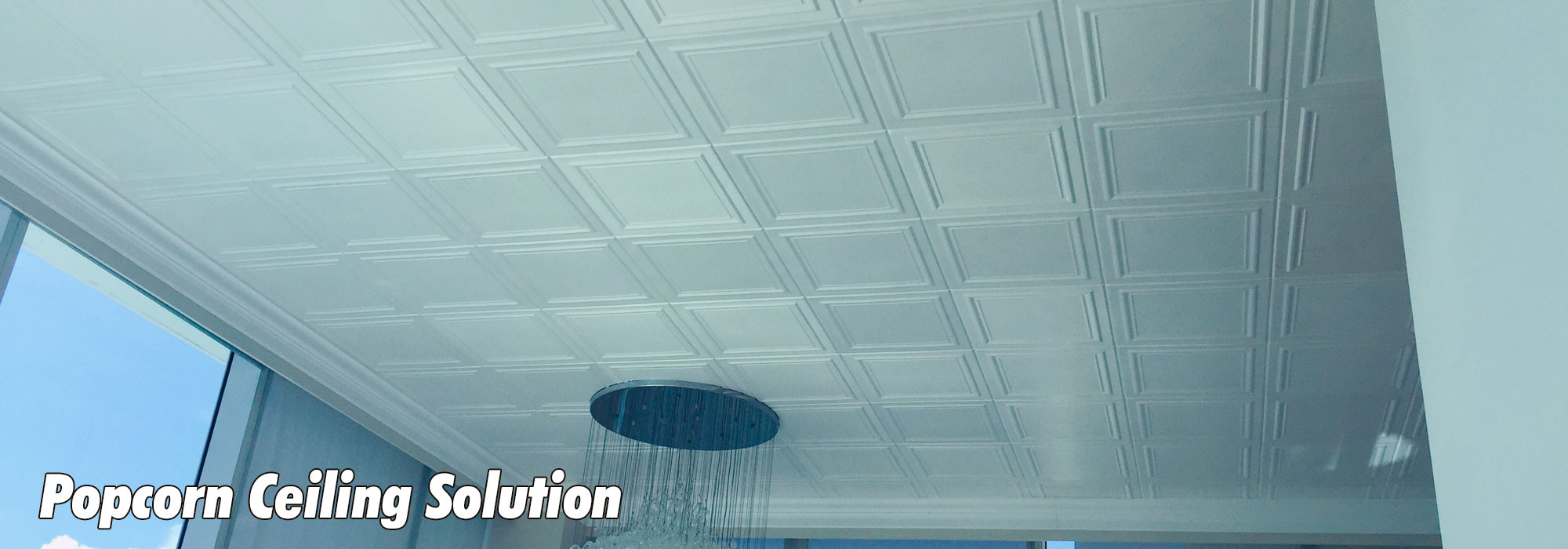 Popcorn Ceiling Solution